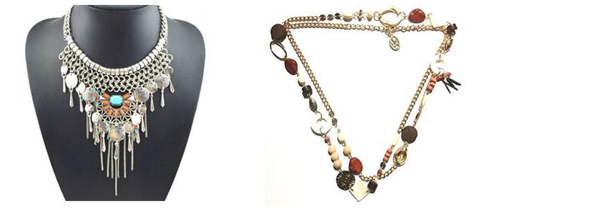 Bijoux de mode collier ethnique